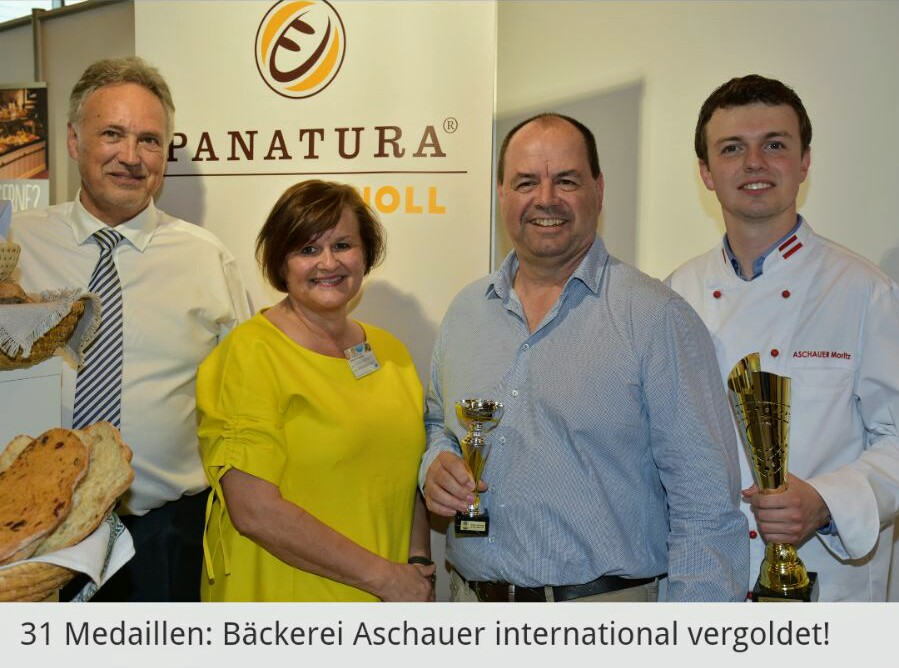 Aschauer bakery is honored several times at the BÄKO in-house fair for the excellent breads made with PANATURA